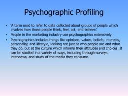 Psychological profiling